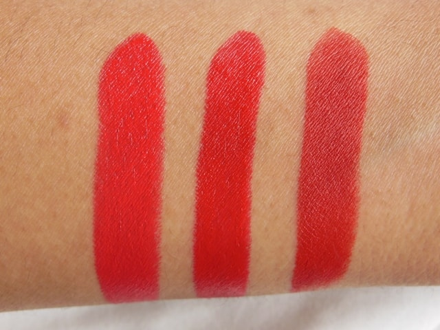 Revlon Superlustrous Red Lipstick-Really Red-Love That Red-Fire&Ice-Swatch