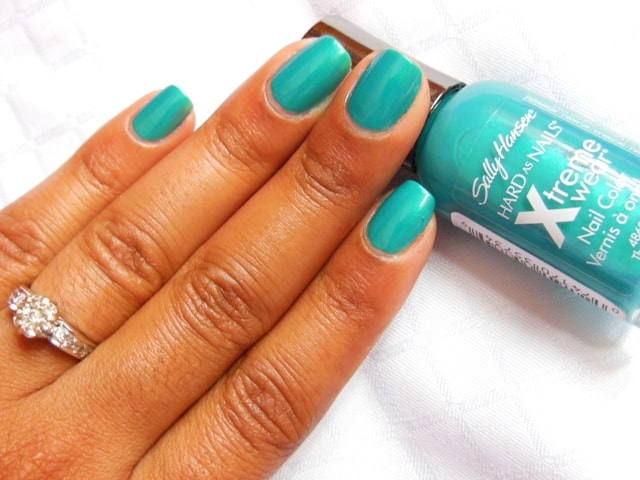 Sally Hansen Hard As Nails Xtreme Wear Nail Color The Real Teal NOTD