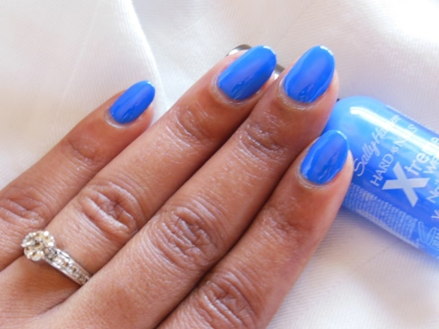 Sally Hansen Hard As Nails Xtreme Wear Pacific Blue Nail Color NOTD