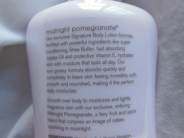 Bath and Body Works Body Lotion-Midnight Pomegranate Claims