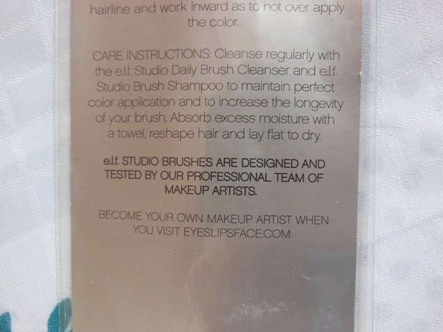 ELF Studio Powder Brush Instructions