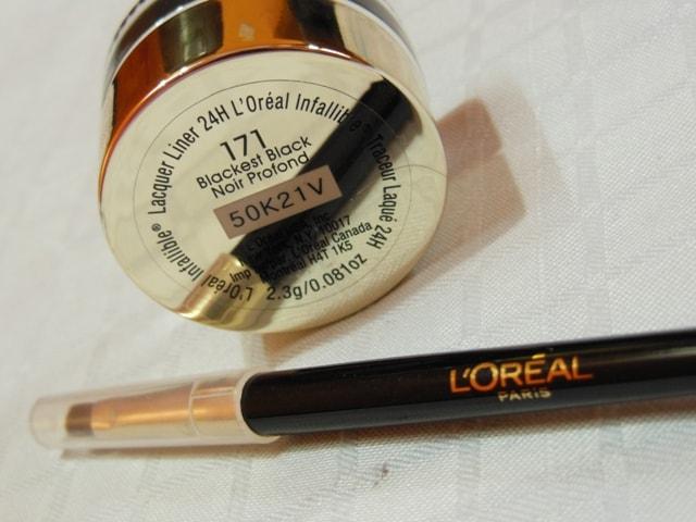 L'Oreal Paris Infallible Lacquer Liner 24hr Eye Liner-Blackest Black Review
