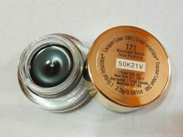 L'Oreal Paris Infallible Lacquer Liner 24hr Eye Liner-Blackest Black