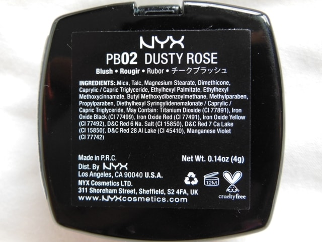 NYX Blush Dusty Rose Ingredients