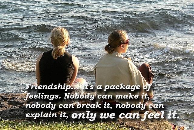 Friendship is a Feeling