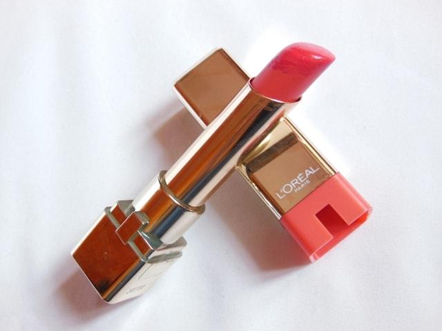 Monthly Makeup Favorite- L'Oreal Color Riche Caresse Lipstick-Sunset Angora