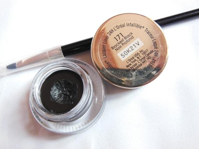 Monthly Makeup Favorite- L'Oreal Infallible Gel Eye Liner- Blackest Black