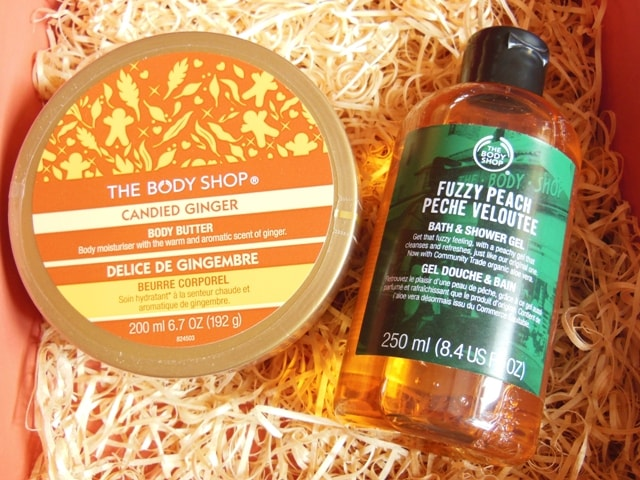 Skin Care Haul- The Body Shop Peach Shower Gel and Spicy Ginger Body Butter