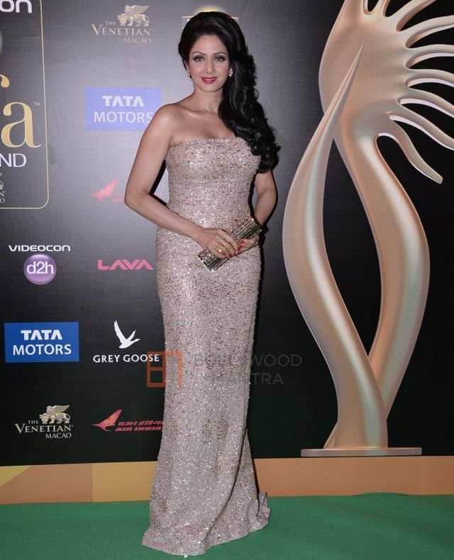 Sridevi @ IIFA Awards 2013 Nude Gown