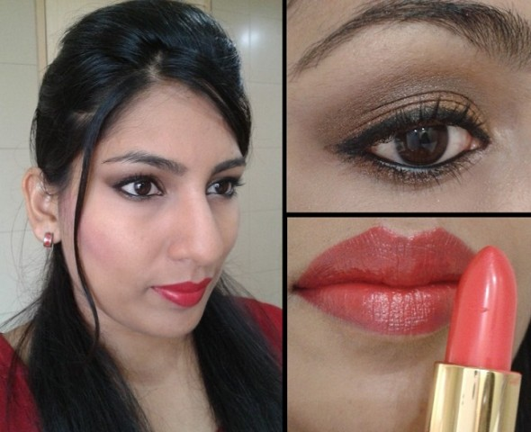 What Am I Wearing Today - Coral Red Lipstick