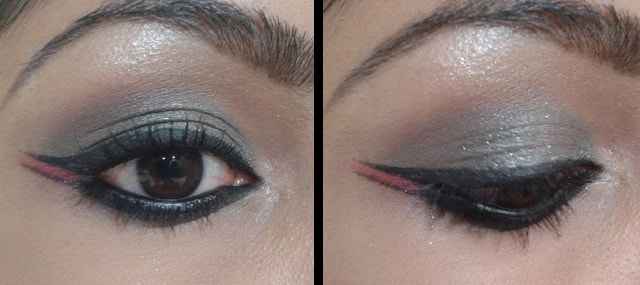 Birthday Eye Makeup - Shimmery Black Eyes with Dual Winged Eye Liner
