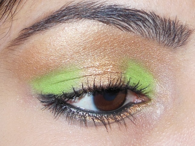 Eye-Makeup-O-Mania- Gold and Green Eye Makeup 2