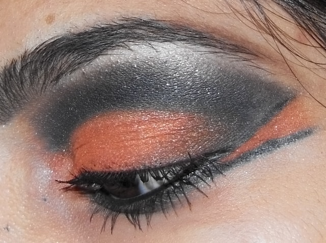 Eye-Makeup-O-Mania- Orange And Black Eye Makeup 1