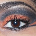 Eye-Makeup-O-Mania- Orange And Black Eye Makeup 2