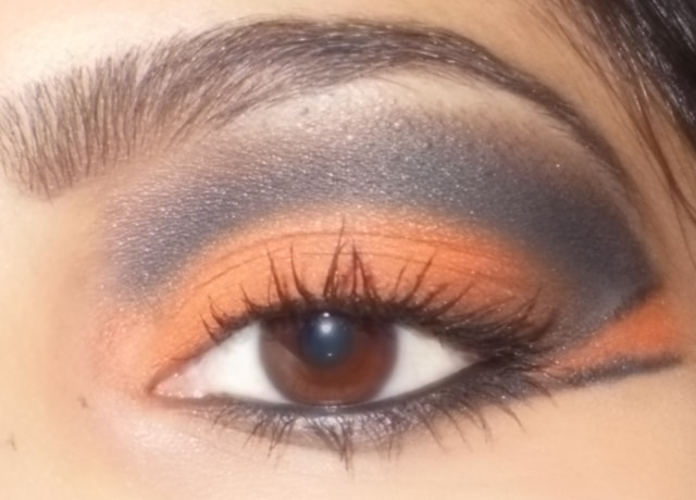 Eye-Makeup-O-Mania- Orange And Black Eye Makeup 4