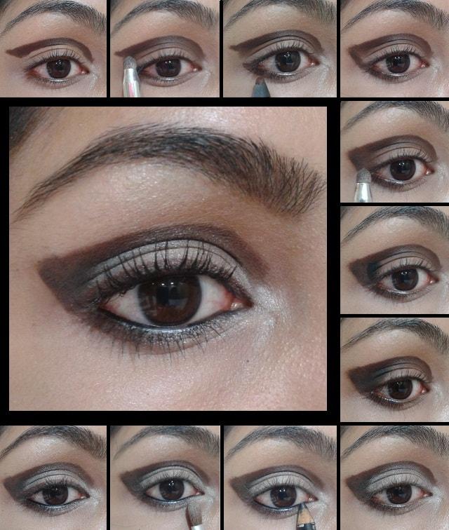 Eye Makeup Tutorial- Cut Crease Brown Eyes - Indian Beauty ...