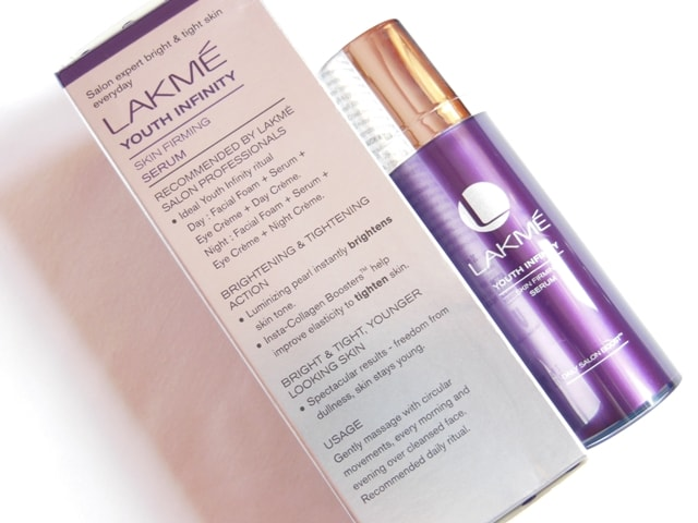Lakme Youth Infinity Skin Firming Serum Claims