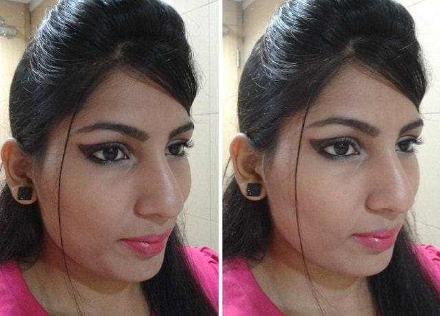 Look- Brown Cut Crease Eye Makup and Bright Pink Lips