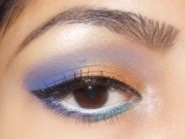 Purple and Gold Eye Makeup
