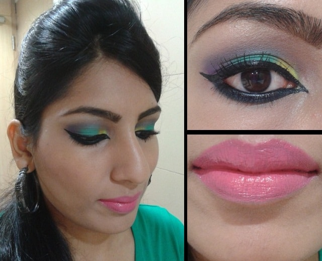 What Am I Wearing Today-Arabian Style Liner and Bright Pink Lips