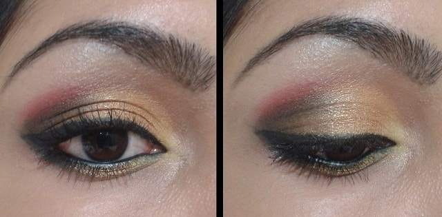 Eye Makeup - Goldne Pink Eyes