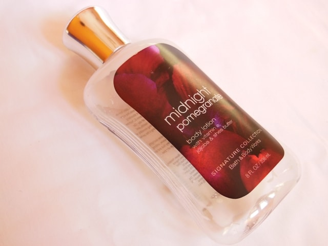 Finally Finished - Bath and Body Works Midnight Pomegrante Body lotion