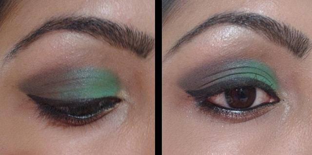 Turqoise Blue and Brown Eye Makeup