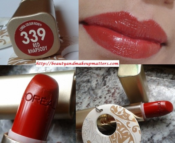 Blog Sale-Loreal-Color-Riche-Red-Rhapshody-339-Lipstick-Swatch