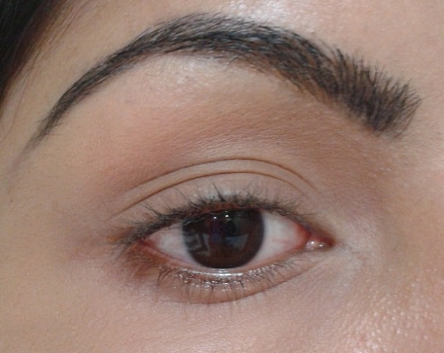 Eyebrows Filled using Black EyeLiner