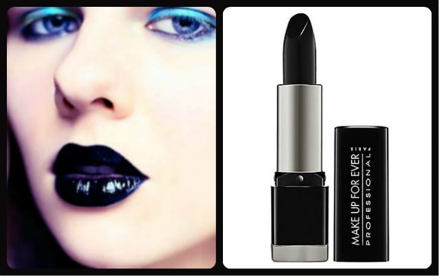 Black Lipstick - Make Up For Ever Rouge Artist Intense 50 Satin Black Lipstick