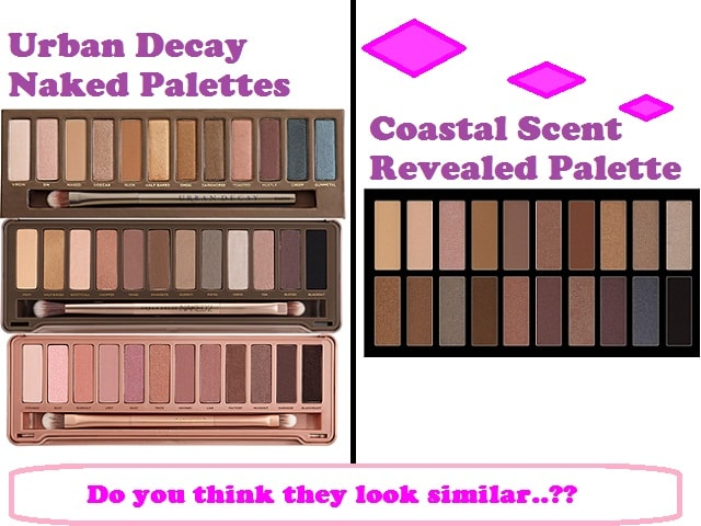 Dupe of Urban Decay Naked Palettes - Coastal Scents Revealed Palette