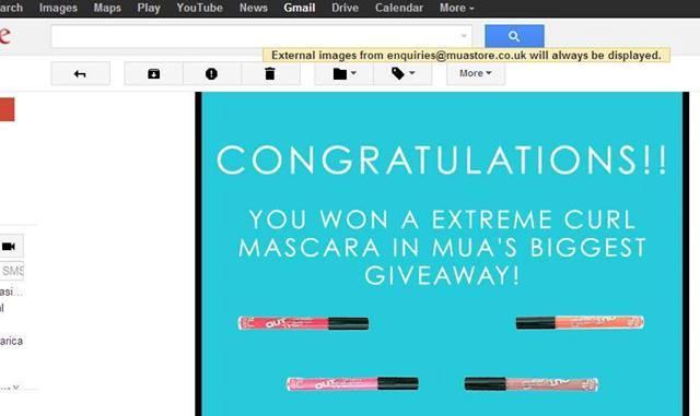 MUA Mascara Giveaway