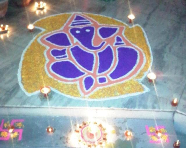My first Rangoli