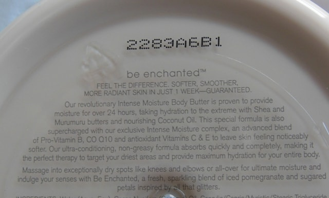 Bath and Body Works Be Enchanted Body Butter Claims