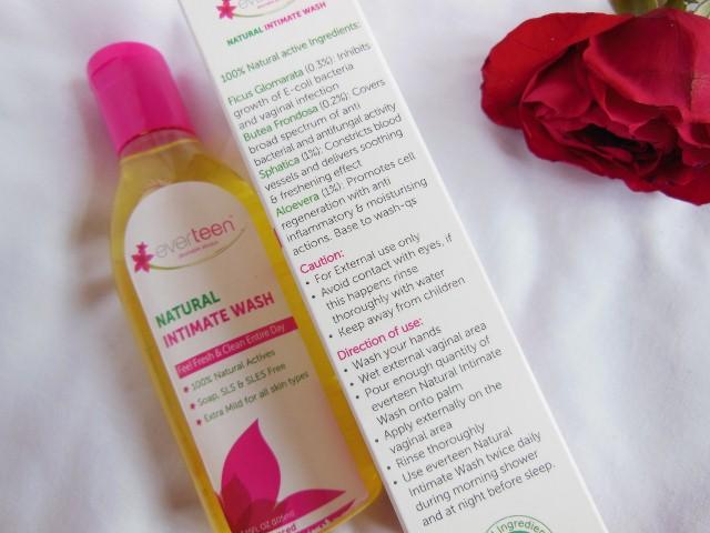 Everteen Feminine Intimate Wash Ingredients
