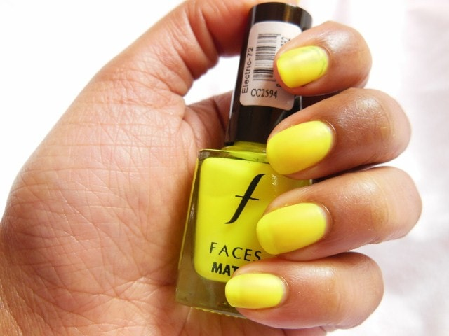 Faces Neon Matte  Electric Nail Enamel NOTD