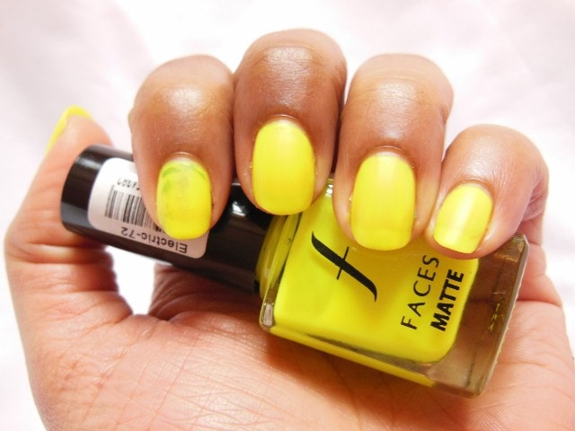 Faces Neon Matte  Electric Swatch