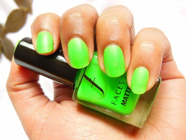 Faces Neon Matte Nail Enamel Greed  NOTD