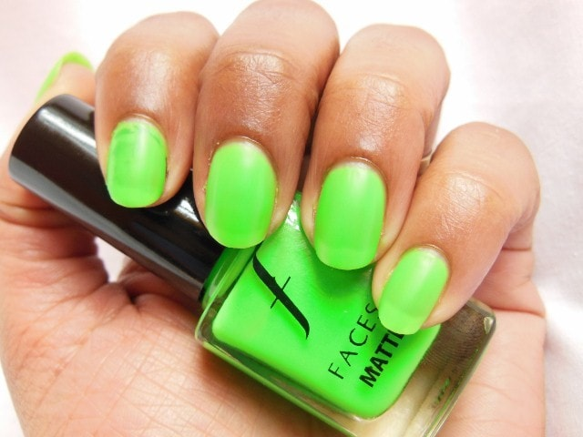 Faces Neon Matte Nail Enamel Greed Swatch
