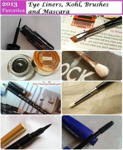 Favorites of 2013 - Eye liners, Kohl Eye Brushes, Mascara