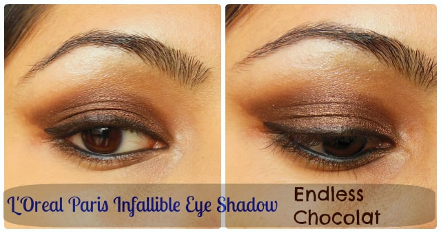 L'Oreal Paris Infallible Endless Chocolat Eye Shadow EOTD