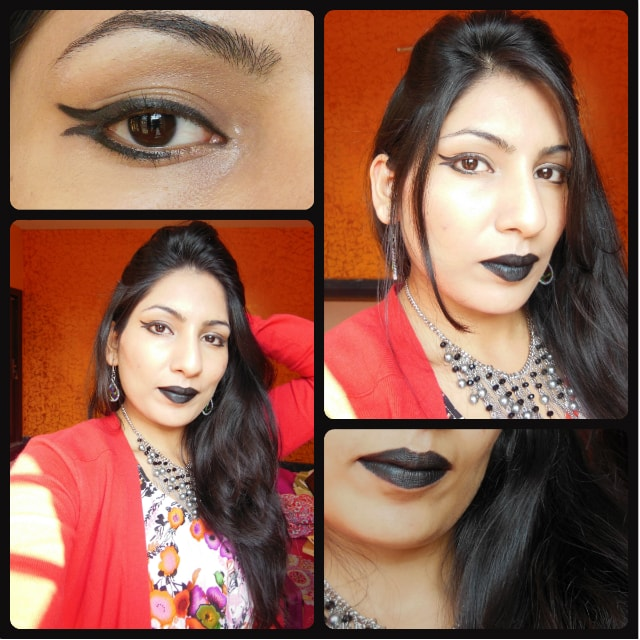 Look of the Day - Gothic Black Lips