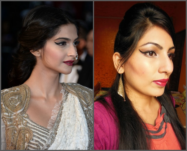 Sonam Kapoor Cannes 2013 Inspired Makeup