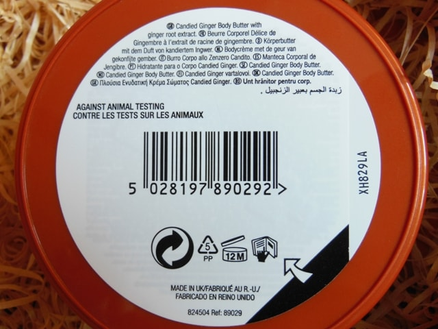 The Body Shop Ginger Body Butter Details