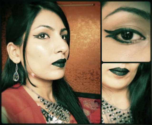 What Am I Wearing Today - Gothic Black Lips Look