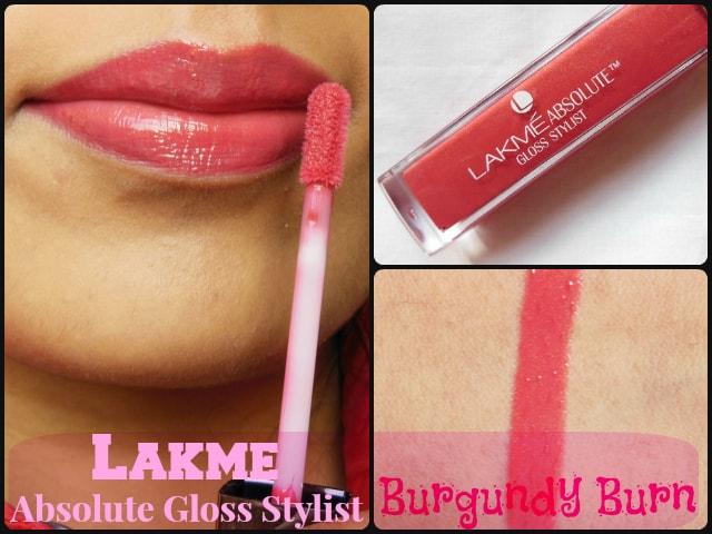 Lakme Absolute Burgandy Burn Lip Gloss Look