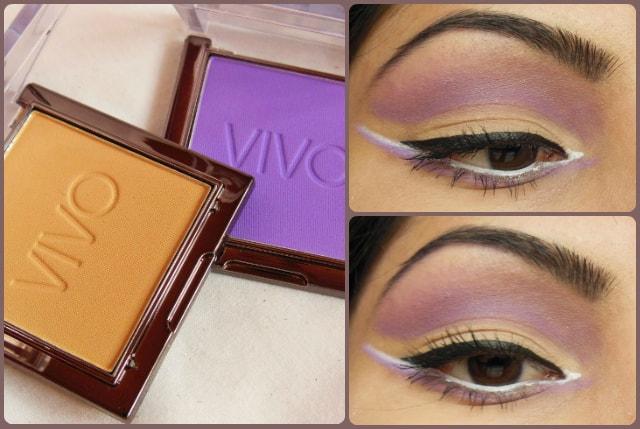 VIVO Eye Shadow Purple Passion and SandStorm EOTD