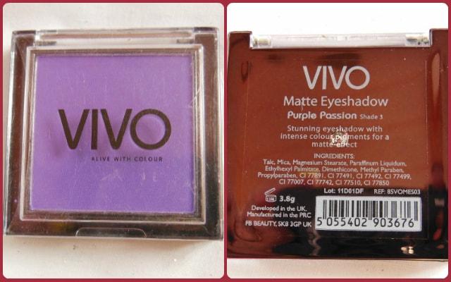 VIVO Matte Eye Shadow Purple Passion Review