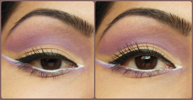 VIVO Matte Eye Shadow Purple Passion and SandStorm EOTD