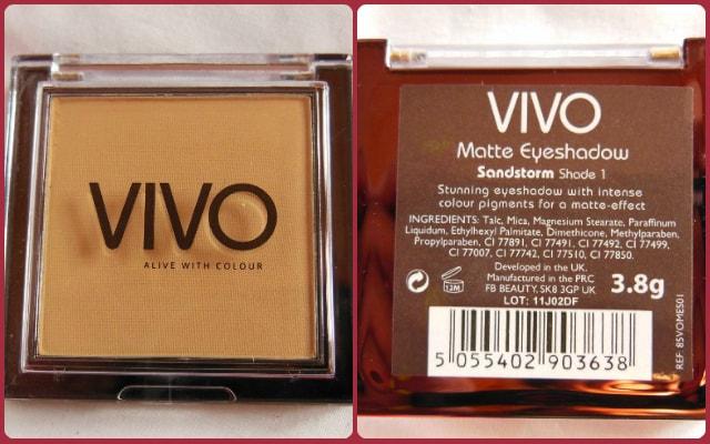VIVO Matte Eye Shadow Sandstorm Shade1